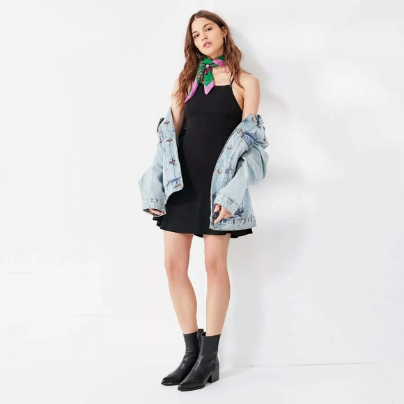 Urban Outfitters Halter Lace Up Mini Dress y2k 90s